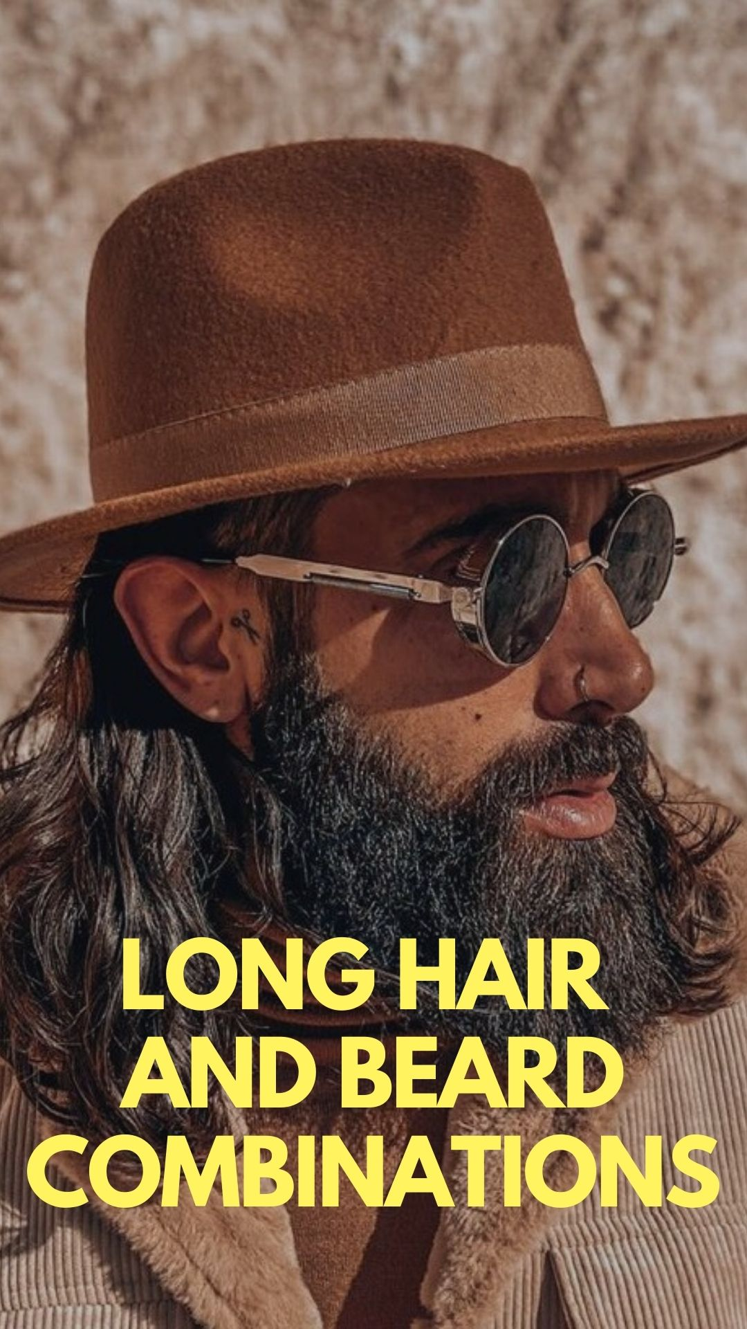 Long Hair and Beard Combination