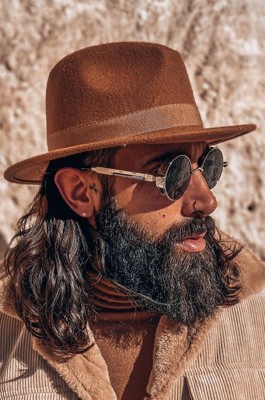 Mane Hairstyle and Beard for Men