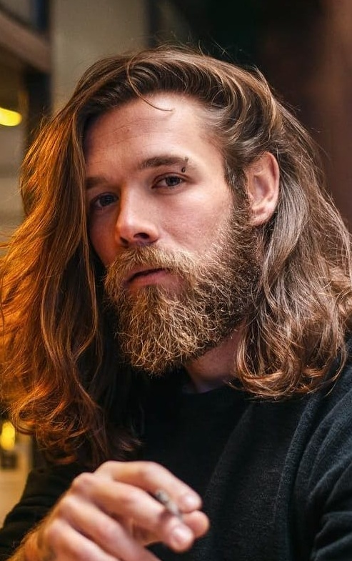 Sexiest Long Hairstyle and Beard Combo to try now