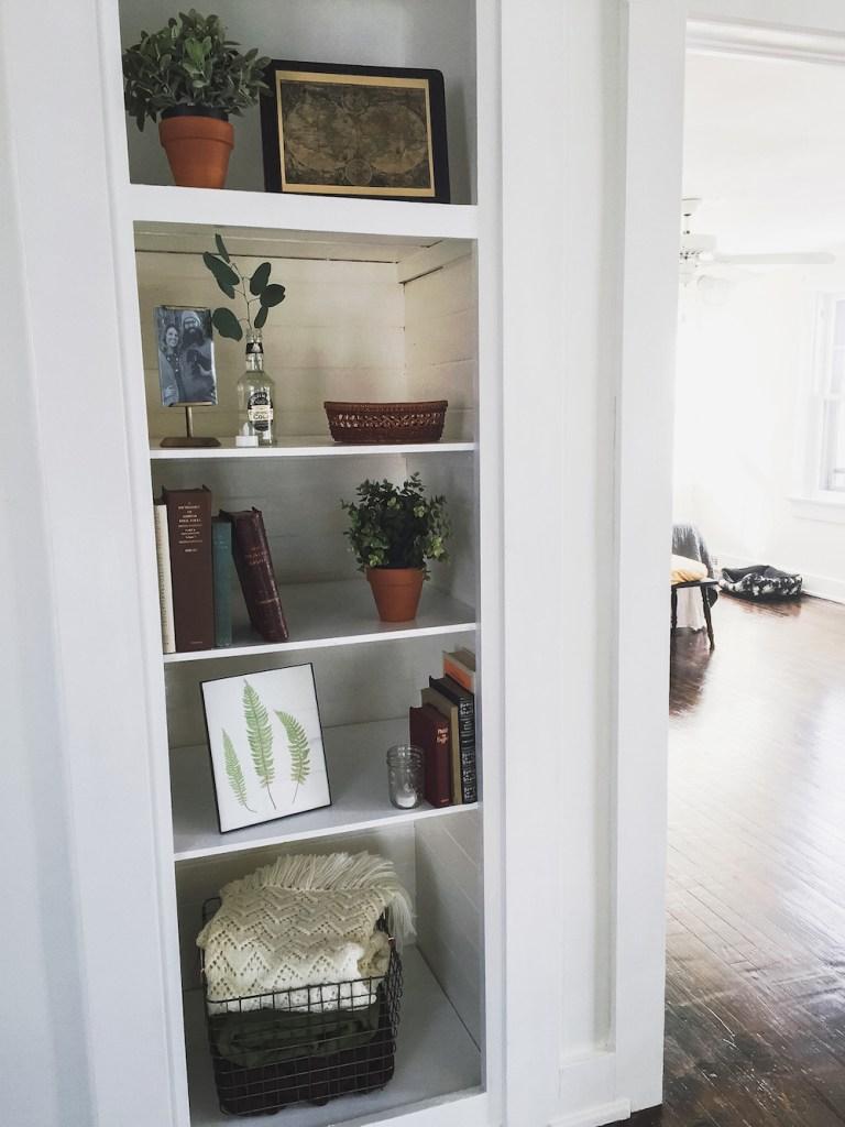 Open Shelving Linen Closet