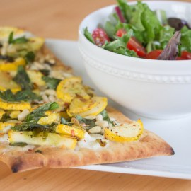 Sweet + Spicy Yellow Squash Flatbreads