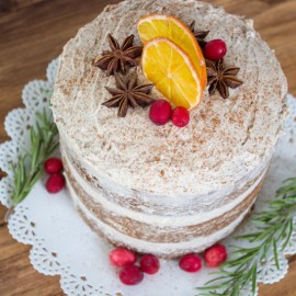 Spiced Vanilla Chai Layer Cake