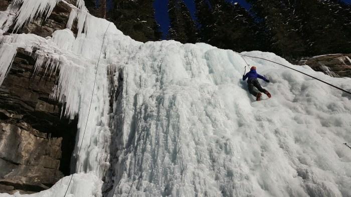 Ice Climbing Johnston Canyon, Banff National Park, Alberta, Canada