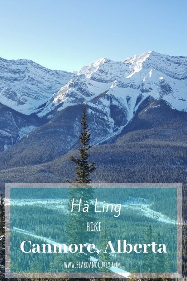 Ha Ling Peak Hike in Canmore, Ha Ling Peak Summit, Winter in Alberta, Snowshoe, hike, ice climbing, Yoho, Banff, Jasper #winter #canada #snowshoe www.beardandcurly.com