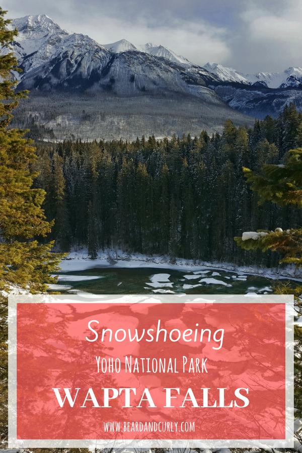 Snowshoeing Wapta Falls in Yoho, Winter in Alberta, Snowshoe, hike, ice climbing, Yoho, Banff, Jasper #winter #canada #snowshoe www.beardandcurly.com