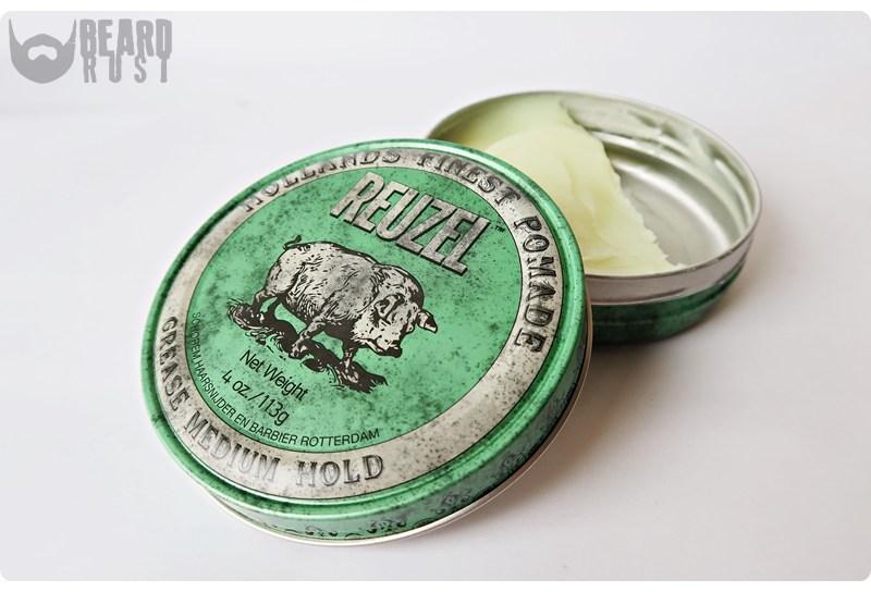 Reuzel Grease Medium Hold Pomade (Green) – recenzja pomady do włosów