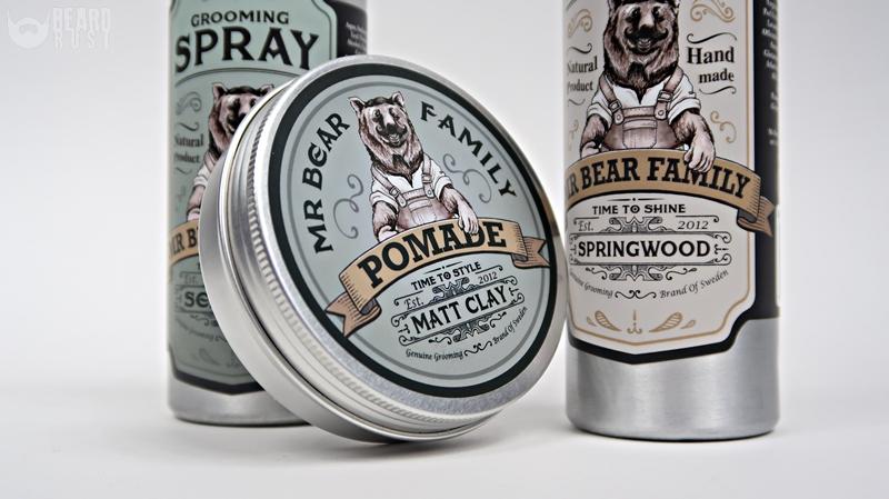 Mr Bear Family Shampoo, Grooming Spray, Pomade – recenzja kosmetyków do włosów