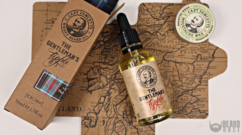 Capt. Fawcett's Whisky Beard Oil (Tipple) + Moustche Wax (Menthol) – recenzja olejku i wosku do wąsów