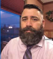 Bulking up: Jarrod's beard was getting bigger here.