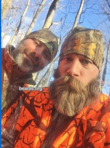 Bearded brothers: Jason and his brother (with stubble beard)