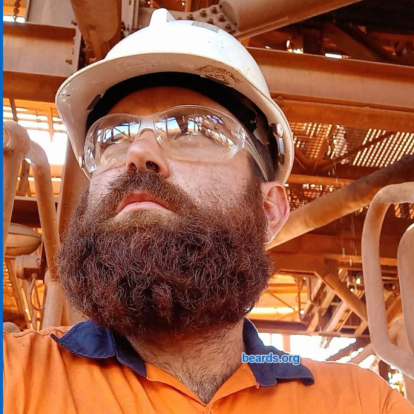 Brock's new beard at about five months of growth.