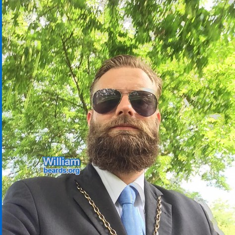 William demonstrates how a full beard is fully compatible with a professional appearance, feature photo 003