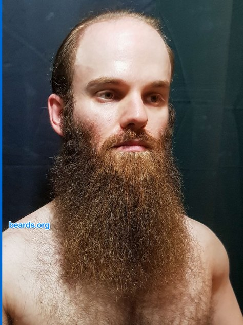 Wider yeard: Michael's year-beard groomed for a wider appearance.
