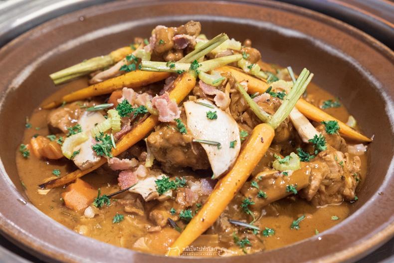 รีวิว อาหาร บุฟเฟ่ต์ สตู ไก่ อาหารฝรั่งเศส