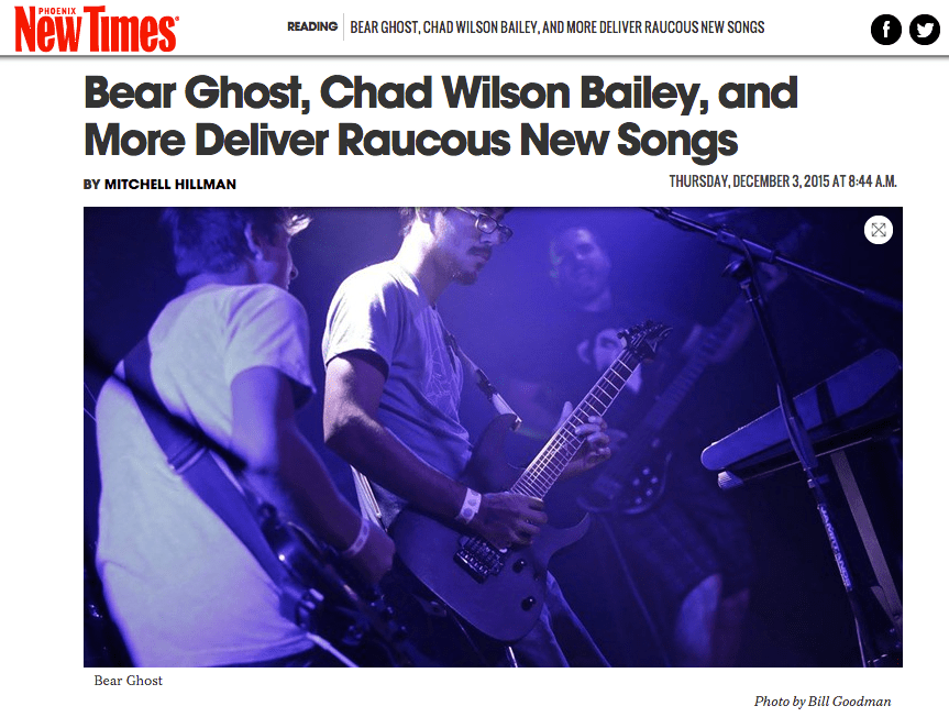 New Song from Bear Ghost in Phoenix New Times