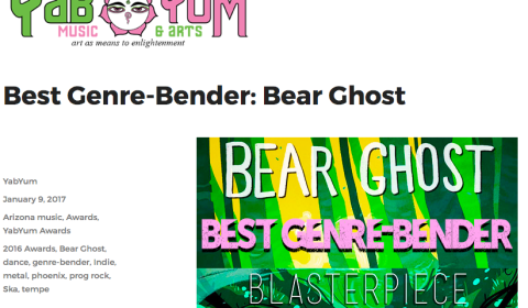 Bear Ghost Wins Genre Bend Award