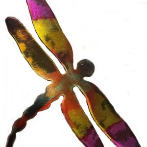 Colored Metal Dragonfly