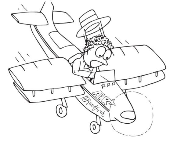 ARCHIEFBEELD: Vliegende reporter Bobby Rundfunk tijdens een van zijn meer recente crashes