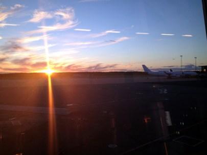 Arlanda i solnedgången