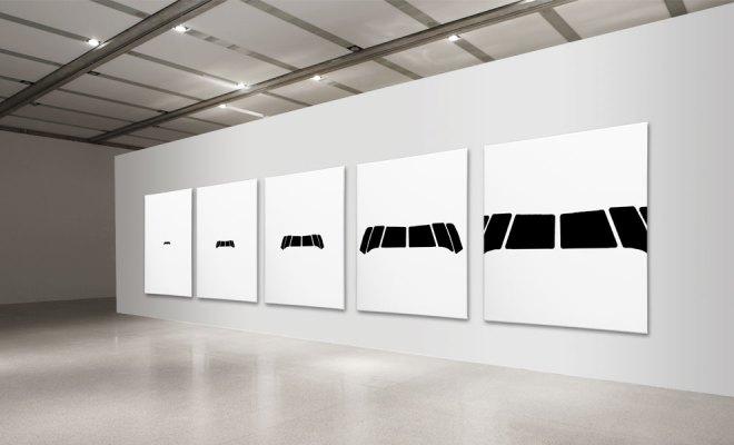 Septemberelevenlastseconde 2014, 5 Canvas, Acrylic, 1,50 m x 1,50 m
