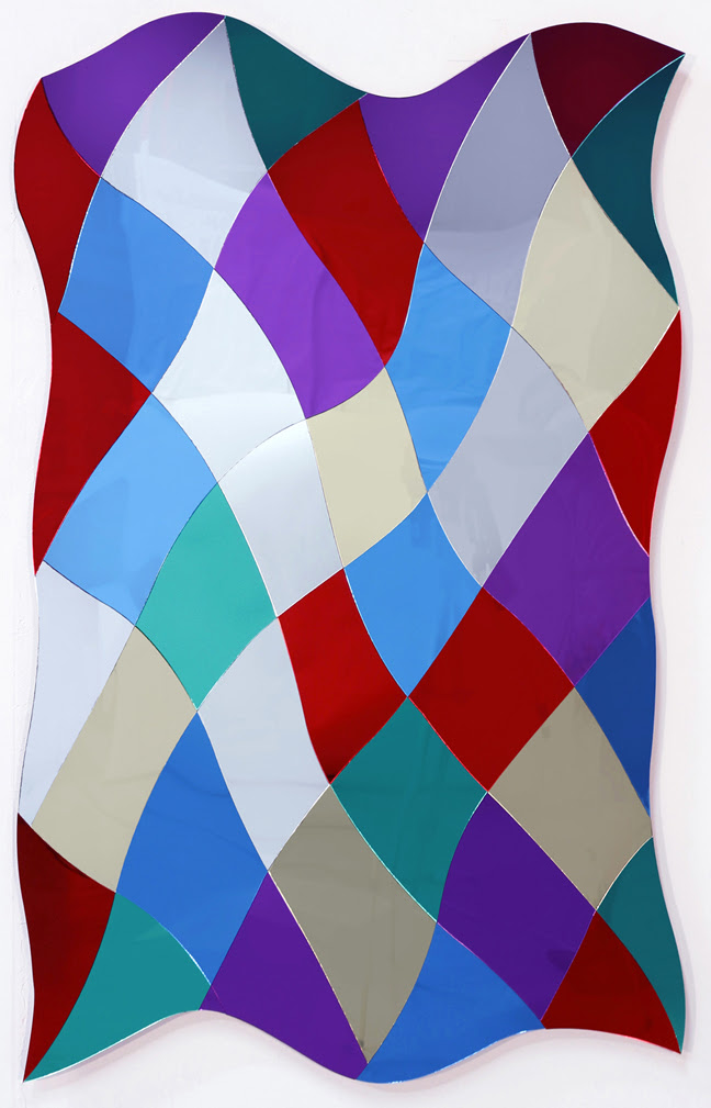 Matthew Carter, Glitter and Scars 4, 2015, reflective PMMA, 48 x 29.5 inches Courtesy LDJ