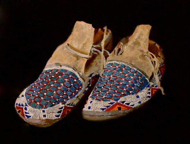 Beaded Moccasins by Barbara Ivey