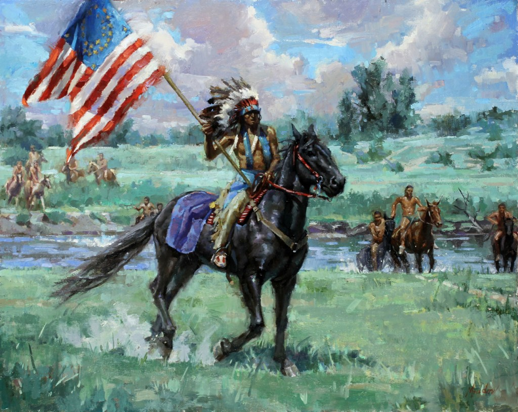 Capture the flat - Battle of Little Bighorn by Meadow Gist