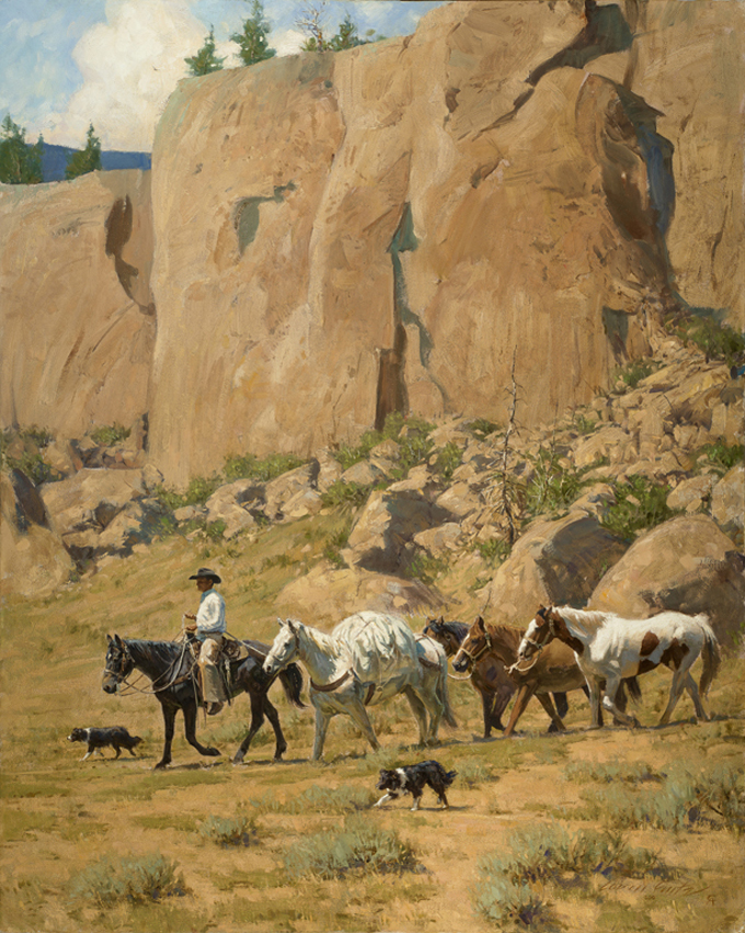 Down the Canyon Trail by Loren Entz