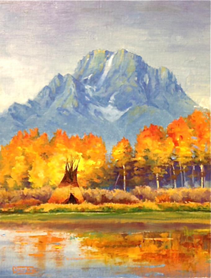 Mt. Moran Camp by Colt Idol