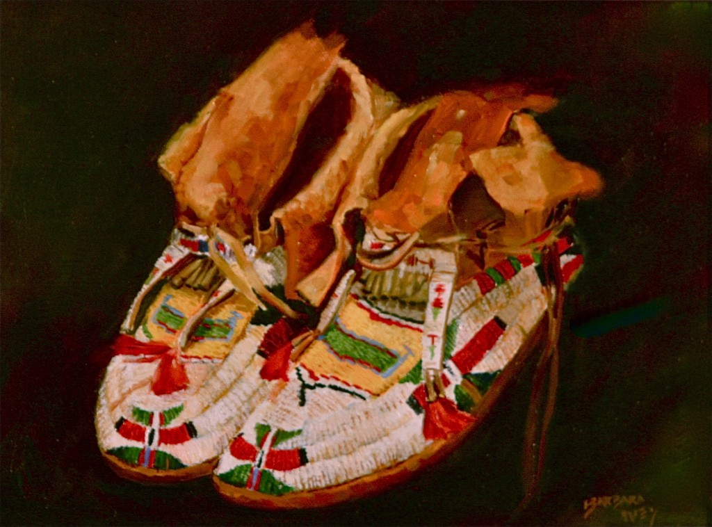 Old Moccasins by Barbara Ivey