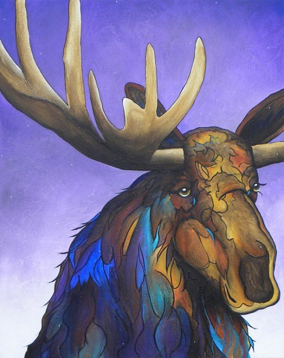 Winter Moose by Micqaela Jones