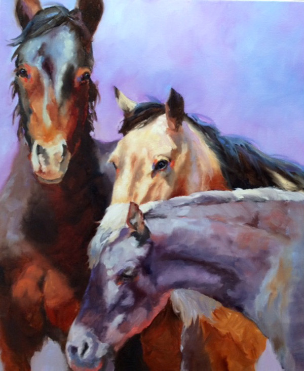 Youve got a friend - Origianl art by Linda StClair