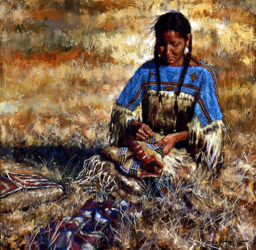 Her Busbands Shirt - Lakota by James Ayers
