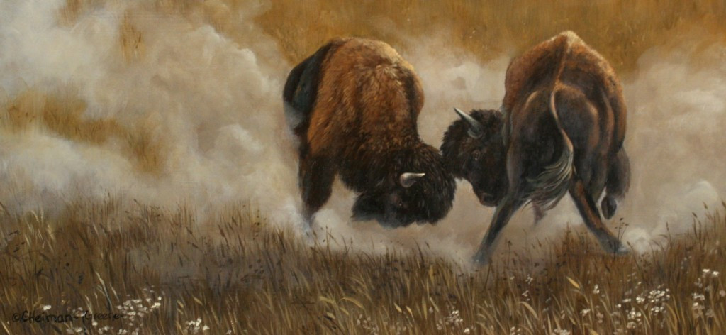 Clash-Of-The-Bison-by-Carol-Heiman-Greene