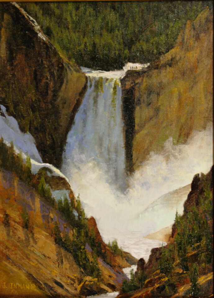 """Canyon At Yellowstone By Jerry Inman Oil 12"""" x  16"""""""