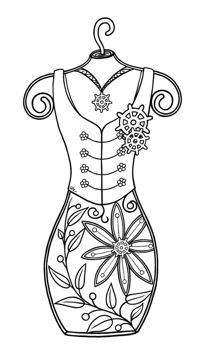 Steampunk-Mini-DressForm-BW