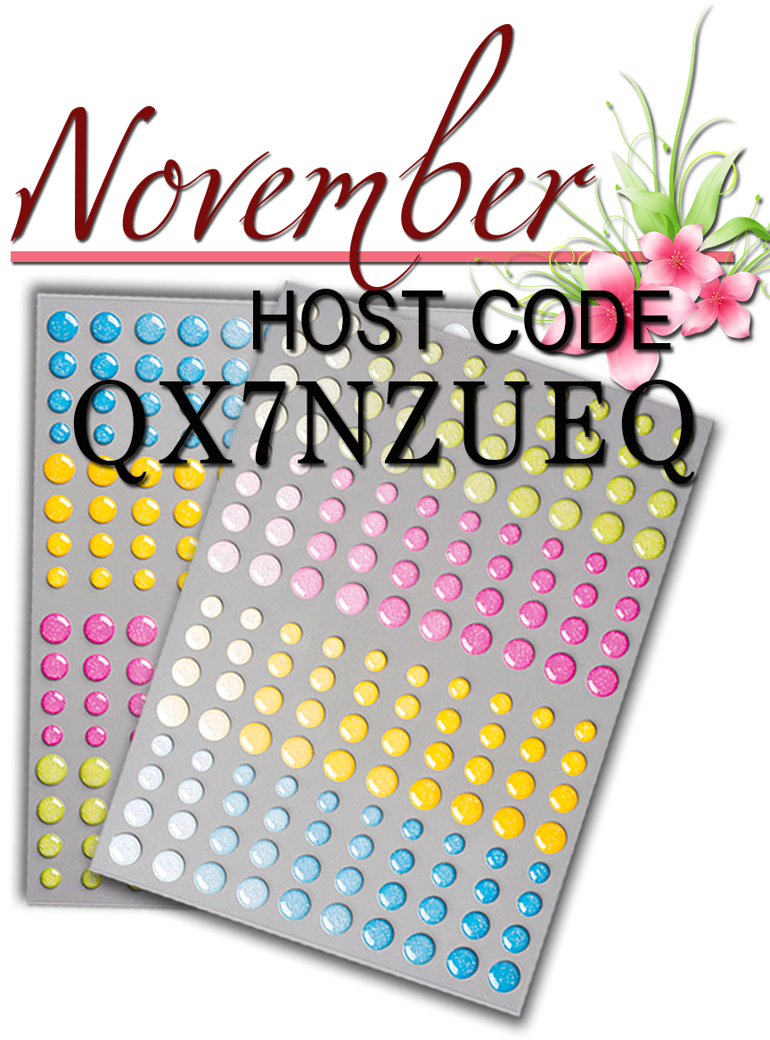 Host Code, NOVEMBER Host Code, Canadian Stampin Up Demonstrator, Card Making Blog, Card Making Blog Canada, Crafting in Canada, Glitter Gems Free, Kathie Zaban, Bearywishes, StampinKathie, Stampin Kathie, Stampin Up,
