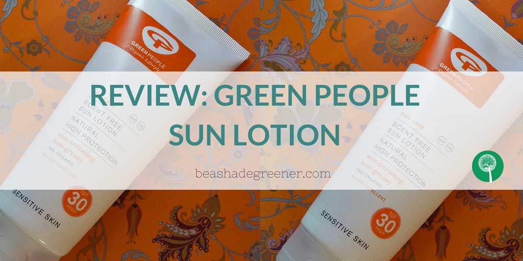Review Green People sun lotion
