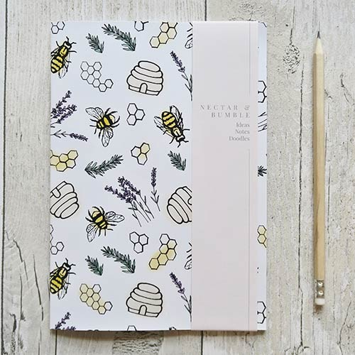 Nectar-and-Bumble-Bee-Love-Notebook-PS