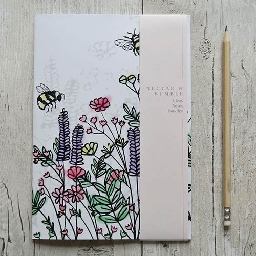 Nectar & Bumble Bee Wildflower Meadow Notebook
