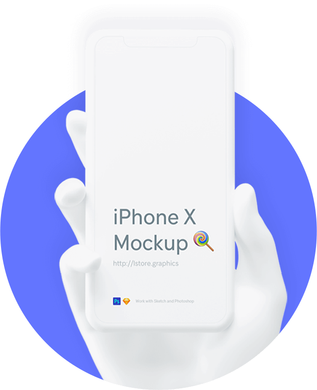 white iphone x in hand