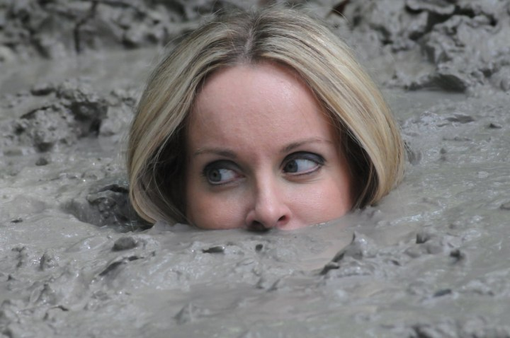 Image result for Woman Stuck in quicksand