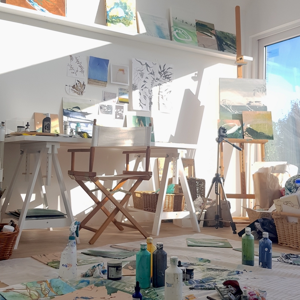 Tara Leaver's art studio