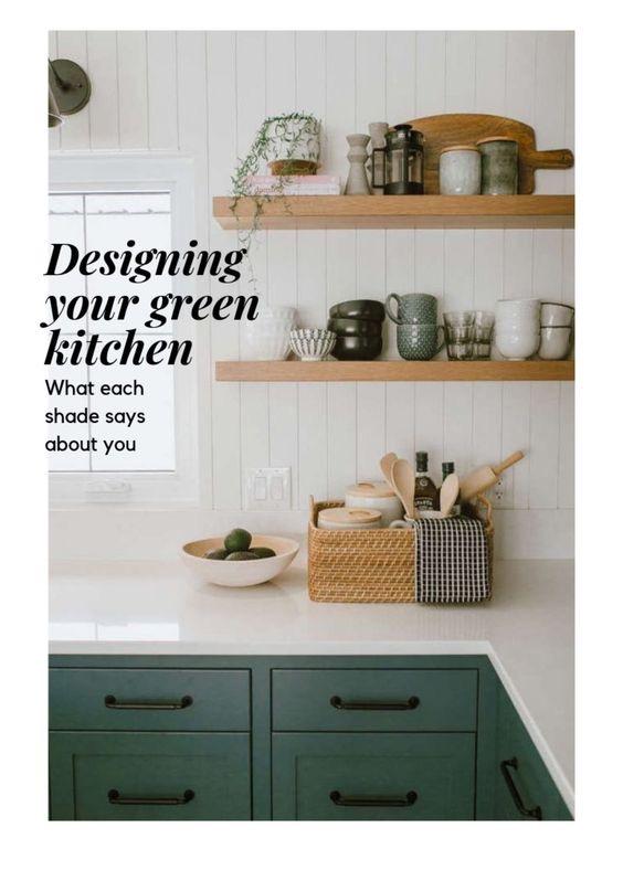 Green Kitchen Cabinet Colour Ideas