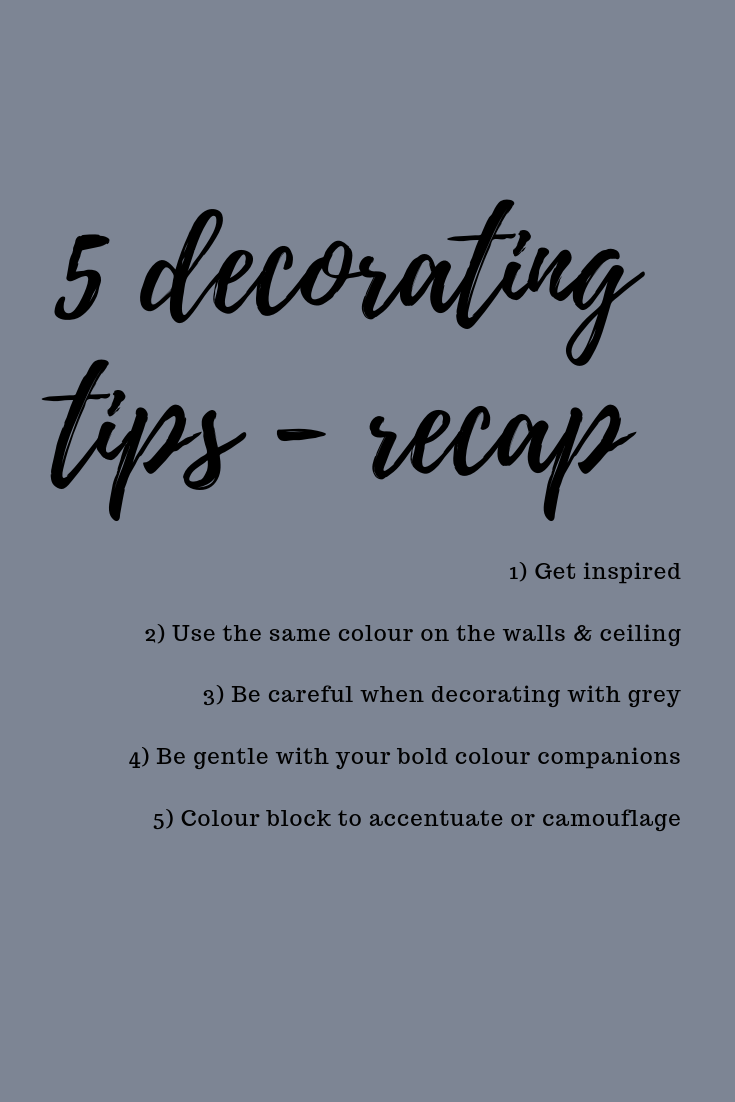 5 decorating tips you need to know BEFORE you start