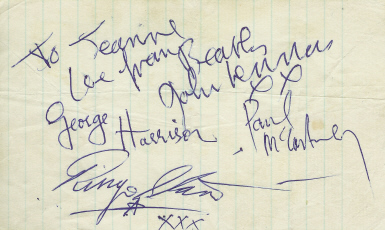 Beatles Autographs Beatles Signed And Handwritten Items