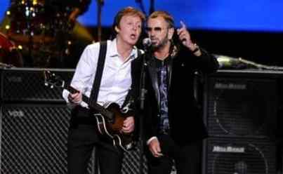 Paul McCartney and Ringo Starr, 4 April 2009