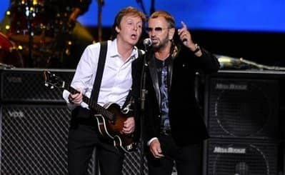 Paul McCartney and Ringo Starr, 4 April 2009