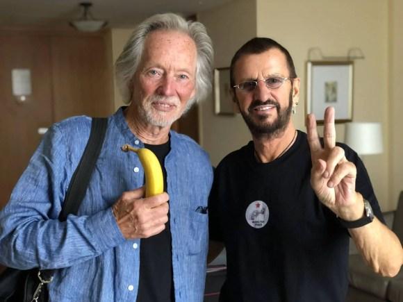 Ringo Starr and Klaus Voormann in Hamburg, Germany, 11 June 2018