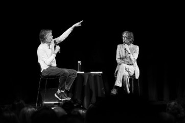 Paul McCartney and Jarvis Cocker at Liverpool Institute for Performing Arts, 25 July 2018